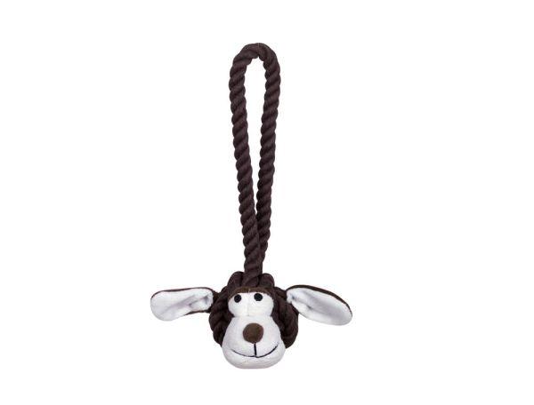 Rope Toy, Knoten mit Hundegesicht mit Wurfseil