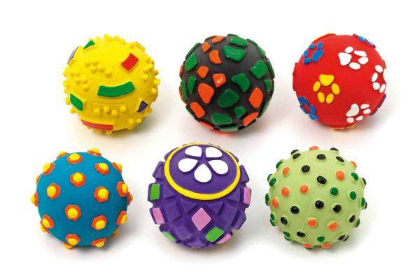 Bunter Latex-Ball ø 8 cm