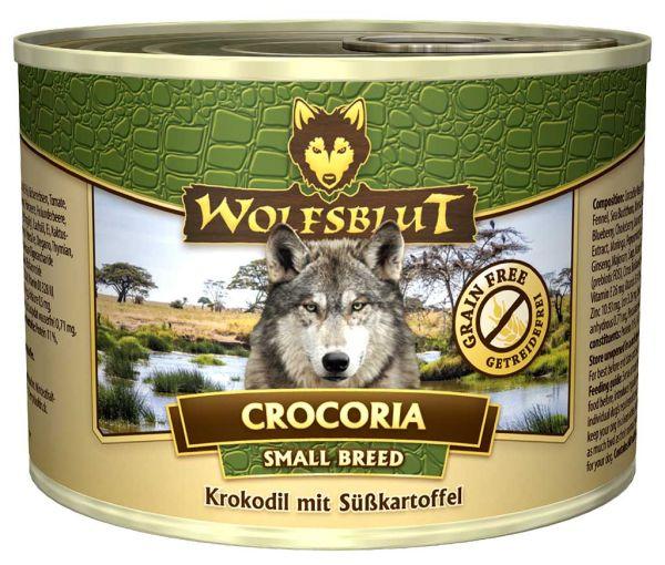 Crocoria SMALL BREED - Nassfutter für kleine Hunderassen mit Krokodil und Süßkartoffel