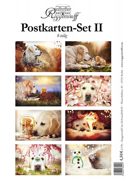 "Postkarten-Set II - 8 zauberhafte Motive aus der Reihe: ""Mr. Golden Retriever MALI"""